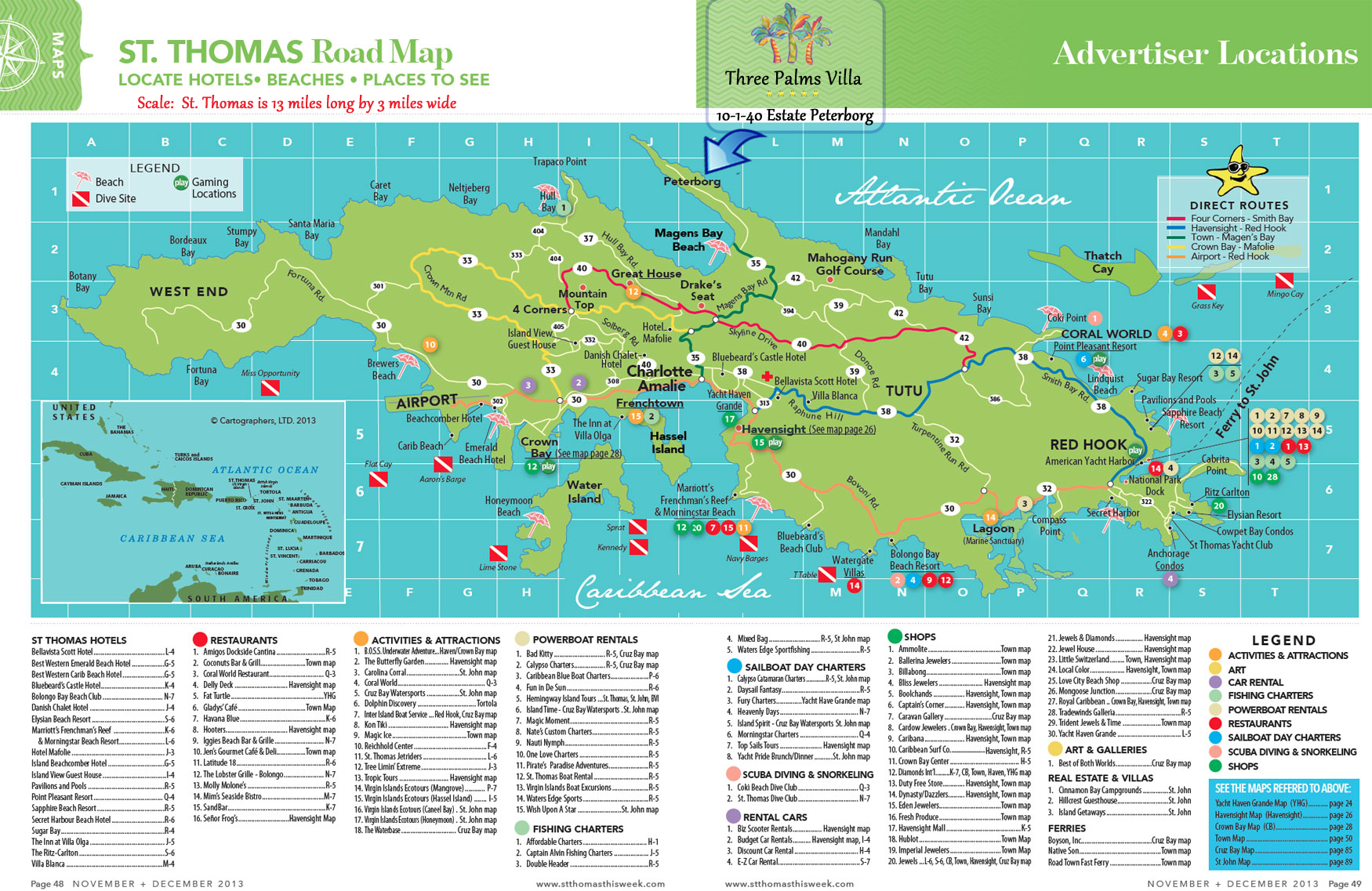 st thomas island road map